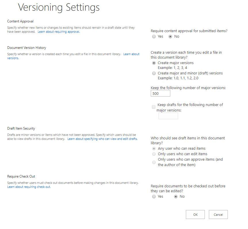 تنظیمات Version Setting