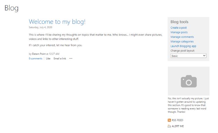 وبلاگ در شیرپوینت