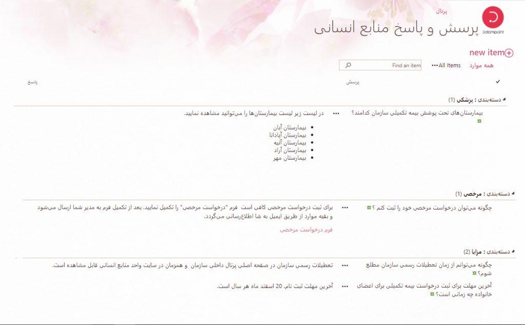 پایگاه دانش پرسش و پاسخهای متداول