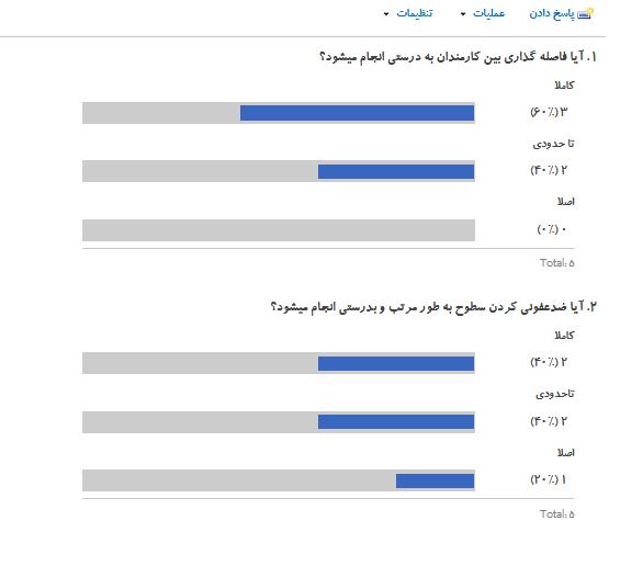 نظرسنجی در شیرپوینت
